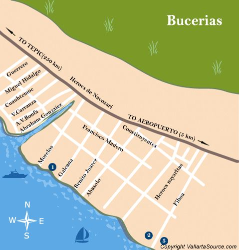 Puerto Vallarta Mexico Maps Bucerias and surrounding area