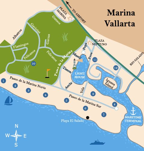 map covering the marina vallarta click here for printable version