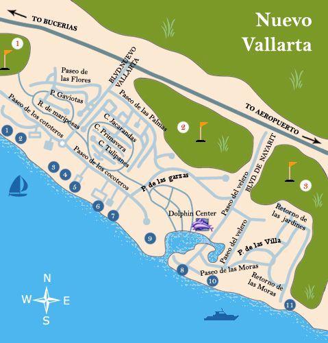 Puerto Vallarta Mexico Maps Nuevo Vallarta